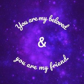 My beloved and my friend handkerchief