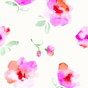 abstract flowers-pink