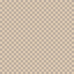JP9 -  Small - Checkerboard of Quarter Inch Squares in Taupe and Ecru