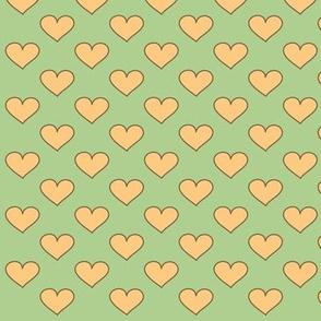 conejo corazones verde