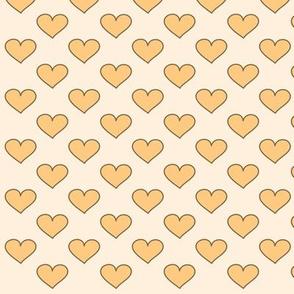 corazones amarillo