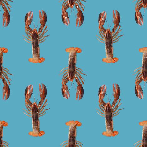 Lots of little lobstas! fabric by lauriekentdesigns on Spoonflower - custom fabric