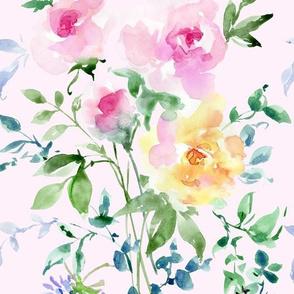 floral on soft pink