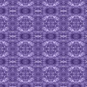 Ethnic violet ornament aclrylic