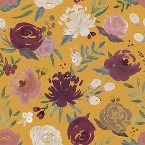 """""""Autumn Blooms"""" on Gold"""
