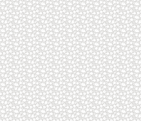 """Small Scale """"Heavenly"""" White on Gray fabric by sweeterthanhoney on Spoonflower - custom fabric"""