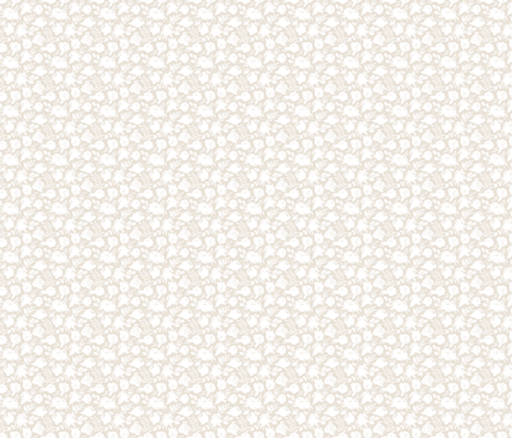 "Small Scale ""Heavenly"" White Floral on Light Tan fabric by sweeterthanhoney on Spoonflower - custom fabric"