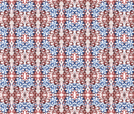 Red and Blue fabric by tierrah19 on Spoonflower - custom fabric