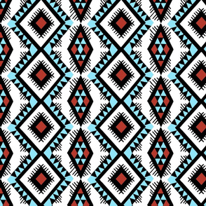 Native American Rain Pattern Turquoise