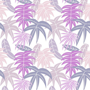 Tropical Leaves, White