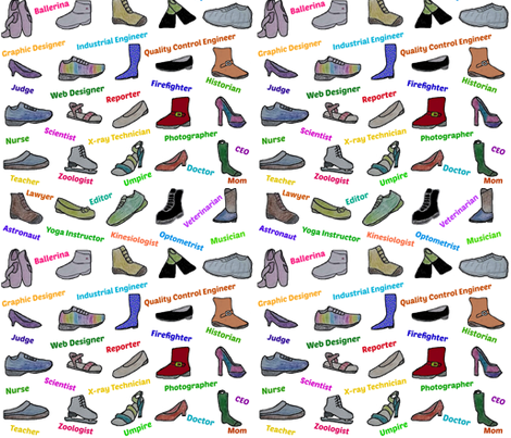 If the shoe fits, wear it! fabric by hoccena on Spoonflower - custom fabric