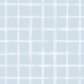 Large White Watercolor Grid on Light Blue