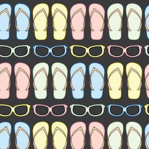 Summer Sunglasses and Flip Flops Lines