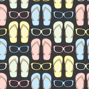 Summer Sunglasses and Flip Flops Grid