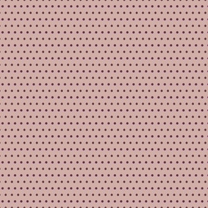 Small Plum Dots on Mauve