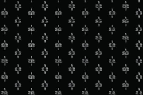 TRIBAL_modzia_black fabric by merrilybydesign on Spoonflower - custom fabric