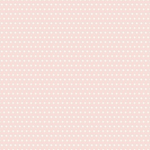 Small White Polka Dots on Soft Pink