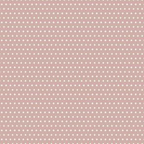 Small White Polka Dots On Mauve