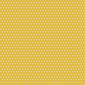 Small White Polka Dots On Mustard