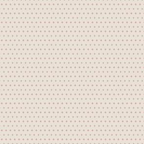 Small Mauve Polka Dots On Tan