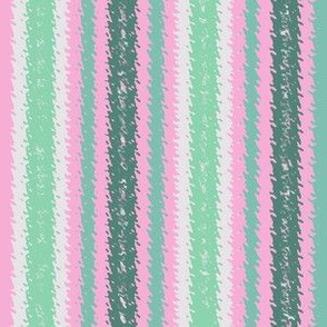JP12 - Minty Pink and Green Jagged Stripes