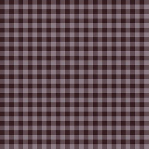 JP5 - Tiny Chocolate Lavender, Puce Purplish Brown Buffalo Plaid
