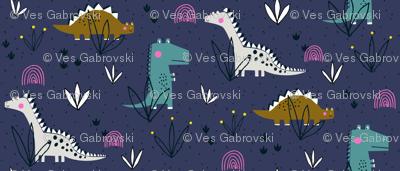 Princess Awesome girly dinosaur design