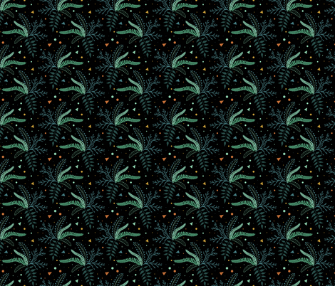 Space Plants fabric by julia_gosteva on Spoonflower - custom fabric