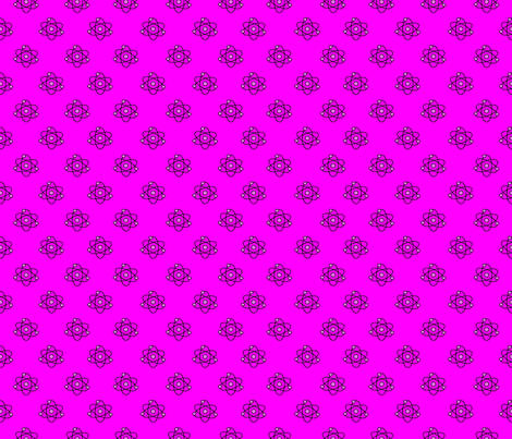 Atomic Dots_Bright Pink fabric by kfrogb on Spoonflower - custom fabric