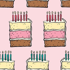 Neopolitan birthday cake