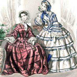 victorian bonnets hats beautiful young woman lady flowers floral lace bows white blue maroon red gowns 19th century parasol curtains furniture leaves vase plants chair room romantic beauty vintage antique elegant gothic lolita egl layered crinoline puffy