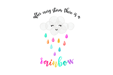 "after every storm there is a rainbow // 18"" x 27"" // brights fabric by ivieclothco on Spoonflower - custom fabric"
