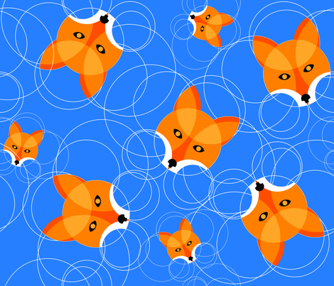 Fox Circles fabric by markgonyea on Spoonflower - custom fabric