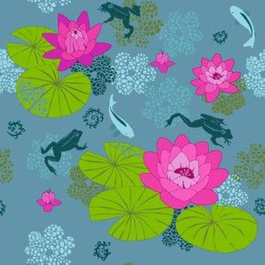 The Lily Pond (blue)