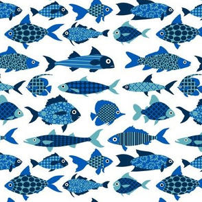 Fish (blue and white)