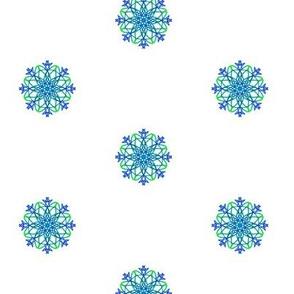 Winter Sparkles on White