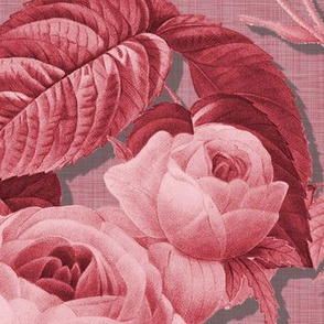 Belles Fleurs ~  Jolie Rayure ~  Rhoda Faux Linen Luxe