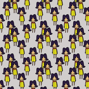 Little Ladies in Yellow Dresses
