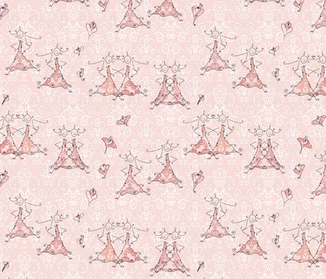 Petite Princess Awesome on pastel pink fabric by pearlposition on Spoonflower - custom fabric
