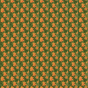 day lily on green 2x2