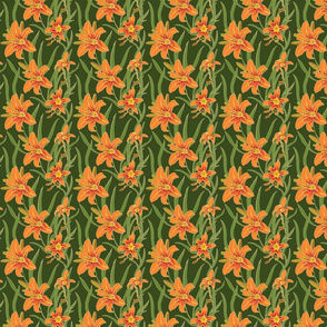 day lily on green 4x4