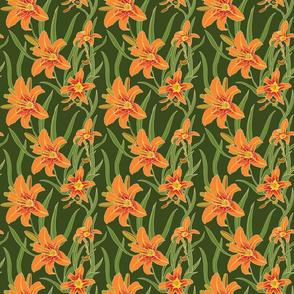 day lily on green 6x6