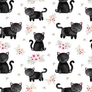 Black Kitten Floral