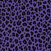 ★ PSYCHOBILLY LEOPARD – LEOPARD PRINT in PURPLE (Ultra Violet) ★ Small Scale / Collection : Leopard Spots – Punk Rock Animal Print