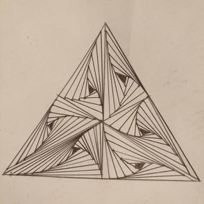 Triangular illusion wallpaper
