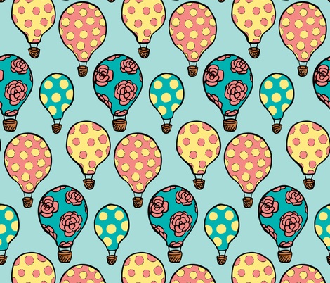 Up, up, and away fabric by charladraws on Spoonflower - custom fabric