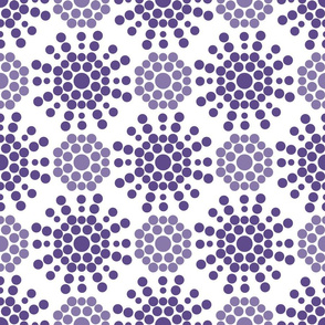 violet circles on white