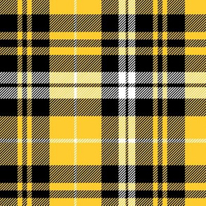 fall plaid - mustard, black, white
