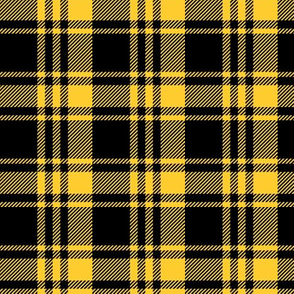 fall plaid - mustard and black