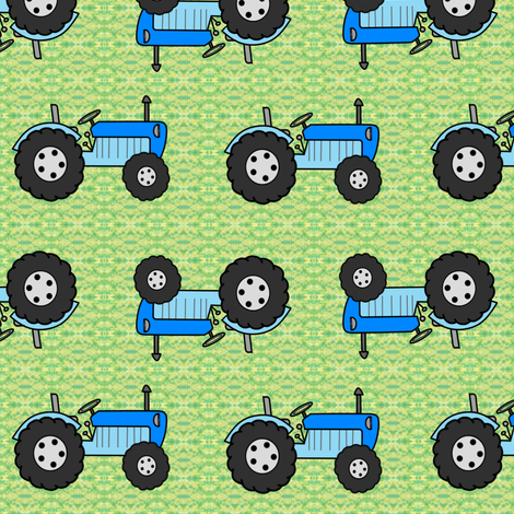Tractor blues 1 inch fabric by karwilbedesigns on Spoonflower - custom fabric